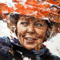Portret Beatrix - Dorus Brekelmans
