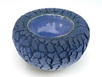 Dubbelwandige blauwe kom - Jolanda Verdegaal