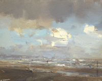 Fascinating Creamy White Clouds - 24 x 30 cm - Roos Schuring